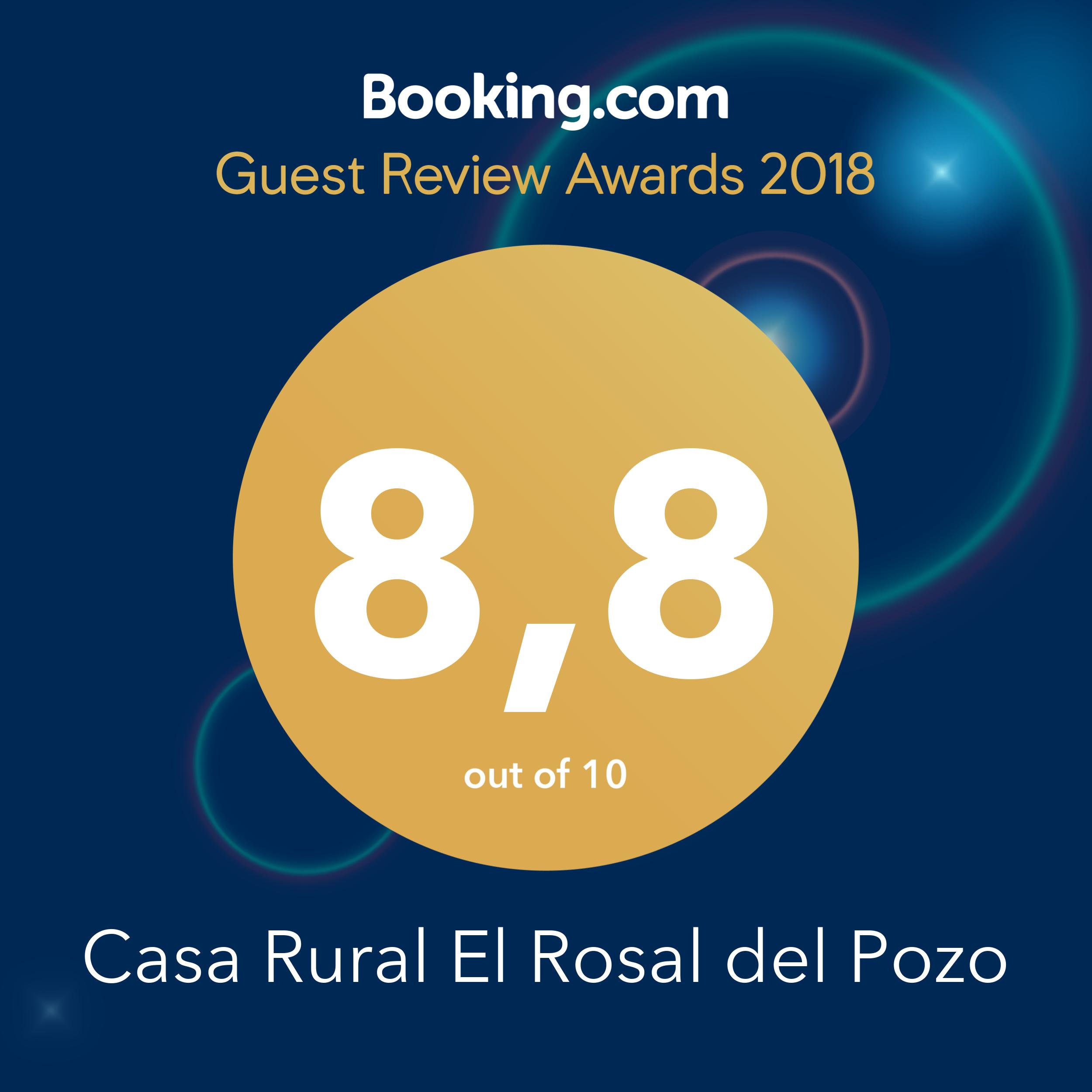Tenemos el placer de compartir con vosotros el premio Guest Review Award de 2018 🤗 #ElRosalDelPozo #GuestsLoveUs